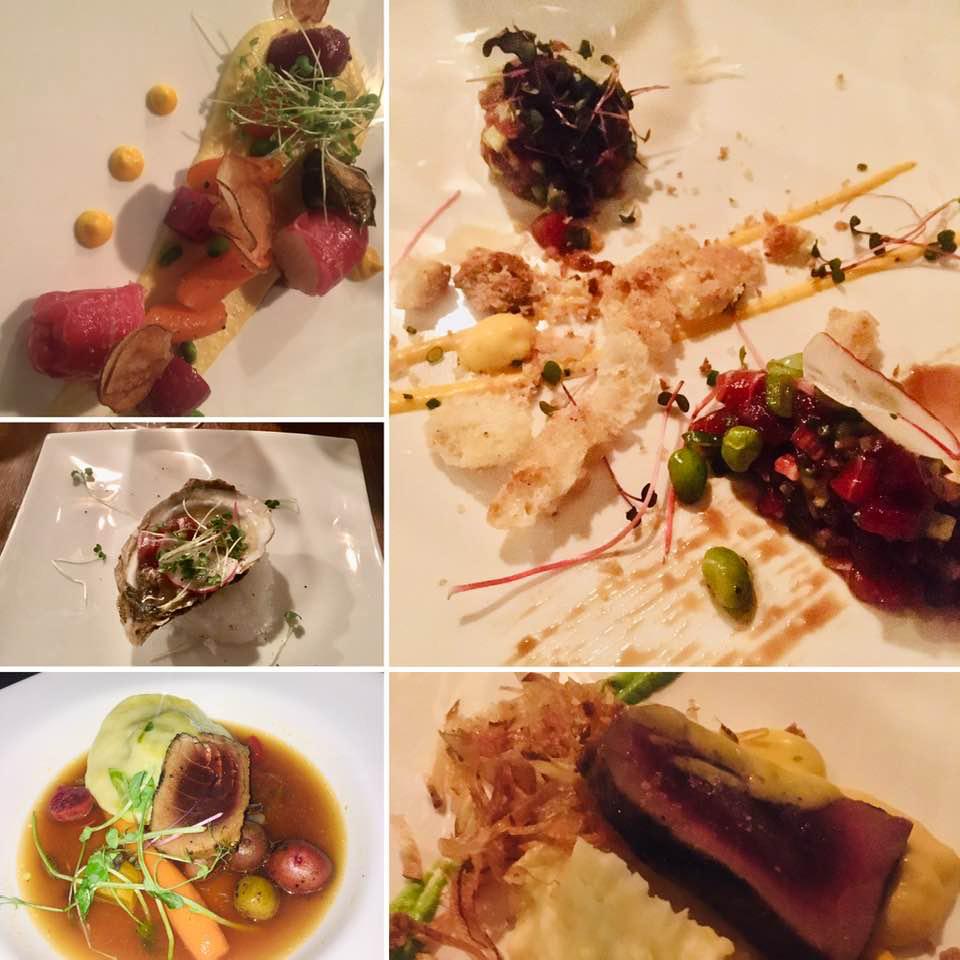 Quelques-uns des plats de thon rouge apprêtés par le chef BenoÎt Larocque au restaurant Le Kabernet de Lamèque. - Gracieuseté