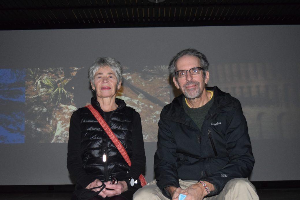 Valérie LeBlanc et Daniel H. Duguas devant une de leurs installations de la trilogie Habitat. Acadie Nouvelle: Sylvie Mousseau