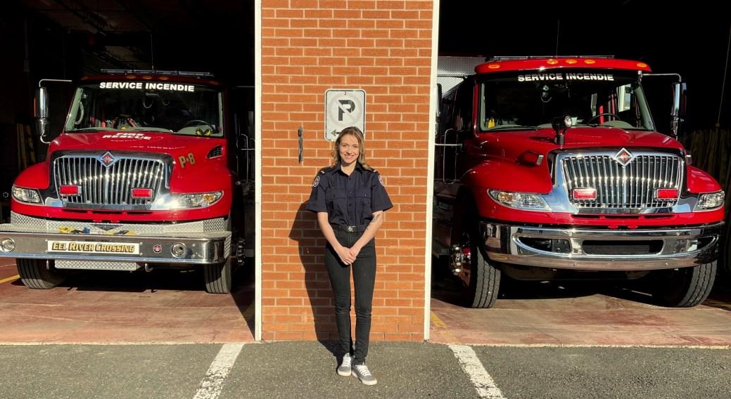 Chantal Roy est devenue récemment la première femme à intégrer les rangs de la brigade des incendies d'Eel River Dundee. - Gracieuseté