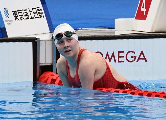 Danielle Dorris, à la suite de sa course à l'issue de laquelle elle a battu un record du monde, vendredi, aux Jeux paralympiques de Tokyo. - Gracieuseté