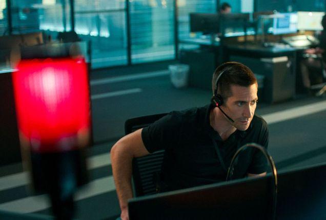 Jake Gyllenhaal dans une scène de The Guilty (Netflix). - Gracieuseté