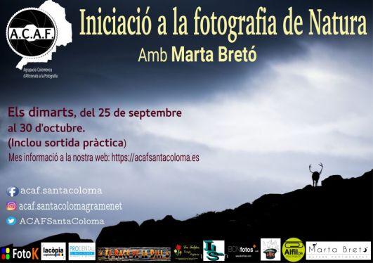 Curs iniciació a la fotografia de natura amb Marta Bretó a ACAF Santa Coloma