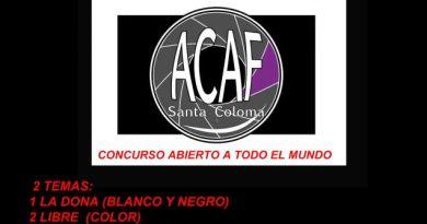 Concurso de fotografía ACAF 2020