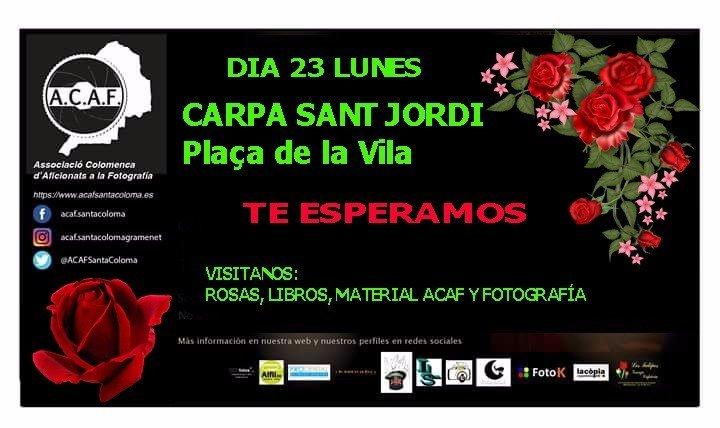 carpa ACAF dia Sant Jordi Pl Vila Santa Coloma de Gramenet