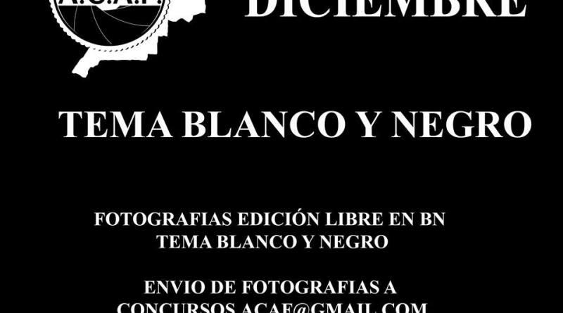 liga social ACAF diciembre 2017 tema blanco y negro