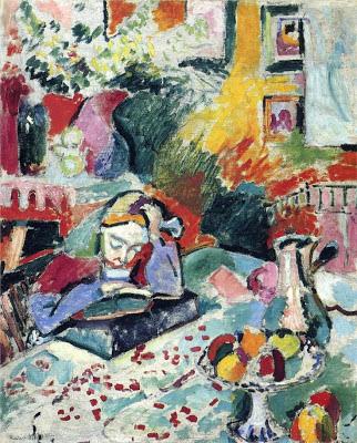 Interior con moza lendo (1905), de Henri Matisse