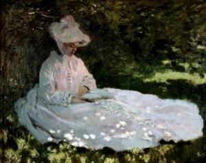 Unha muller lendo. Monet