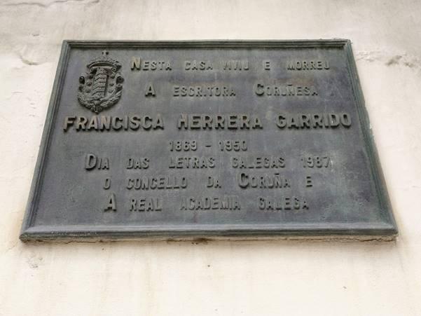 Placa na casa de Francisca Herrera