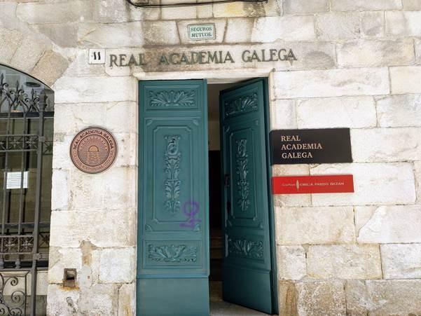 Entrada á Real Academia Galega