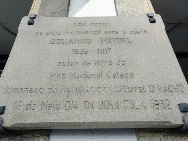 Placa Casa Eduardo Pondal