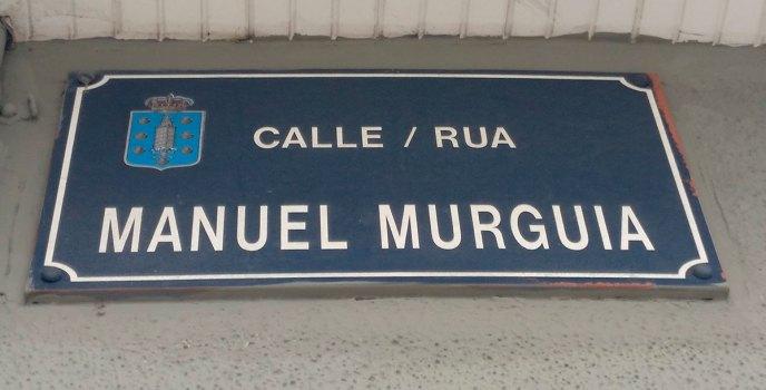Placa da rúa Manuel Murguía