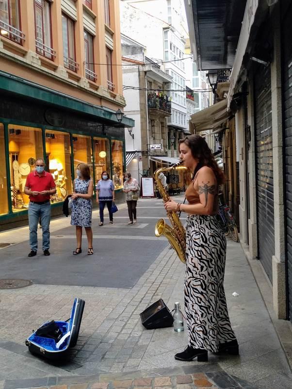 Música na rúa da Franxa