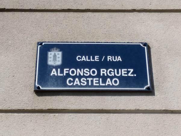 Placa da rúa Alfonso Rguez. Castelao