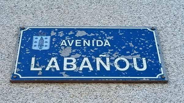 Placa rúa Labañou