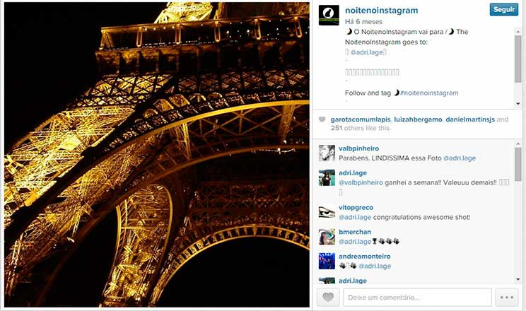 Noite no Instagram, Paris