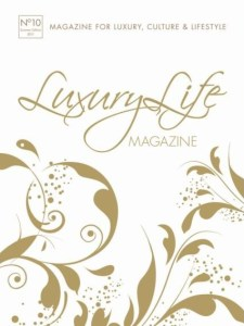 Capa da revista Luxury Life