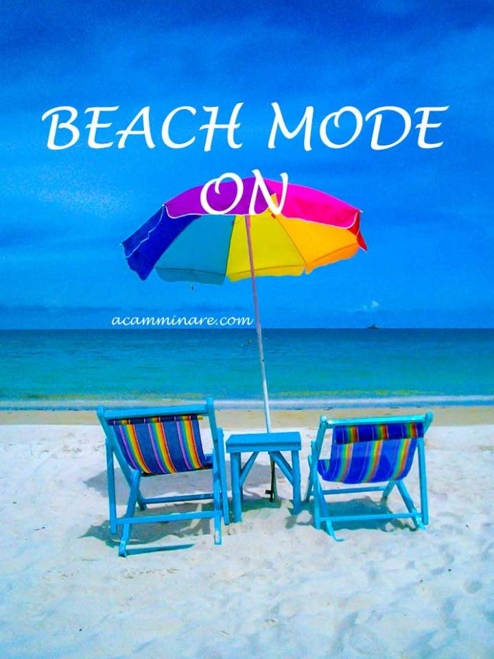 Frases de viagem: Beach mode on