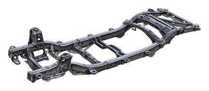 SSR's steel hydroformed frame