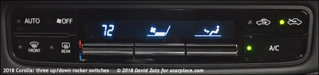 Corolla rocker switches