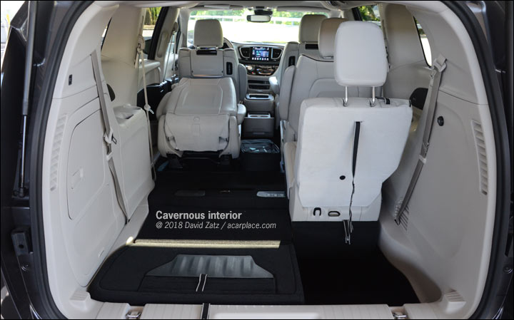 Seats Storage And Stuff Inside The Pacifica Hybrid
