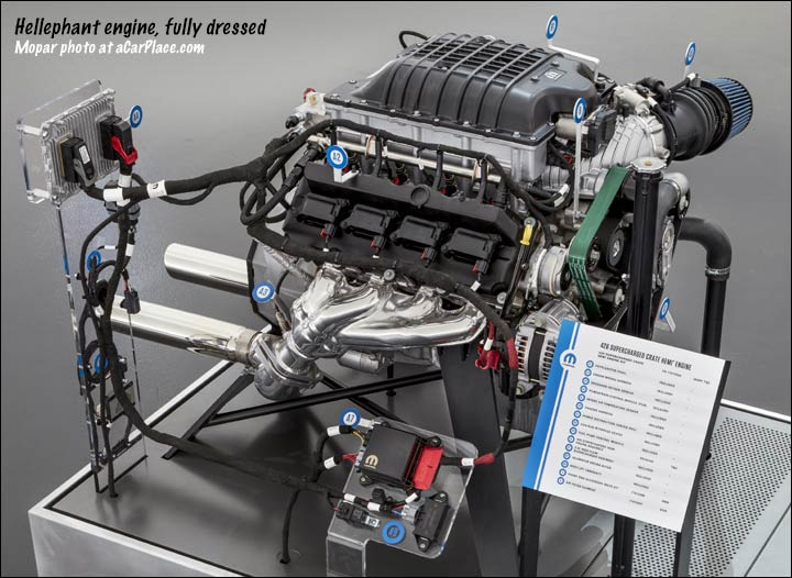 426 Hemi Hellephant engine (Mopar crate)
