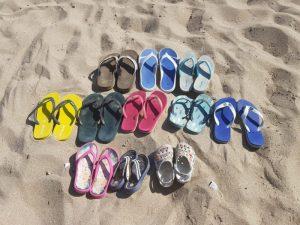 Una giornata in spiaggia in 9 (cioè 11)…e i cani a casa al fresco