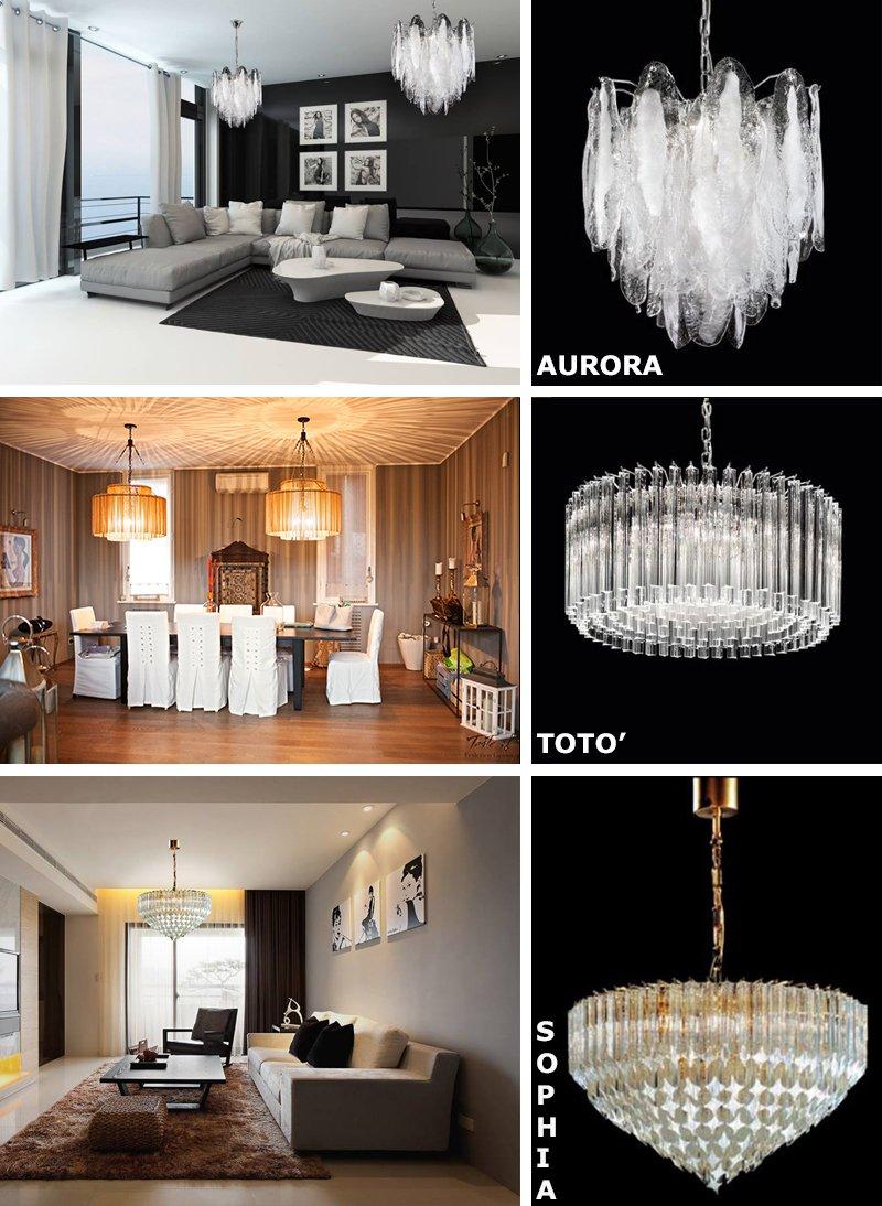 Autentico lampadario classico in vetro soffiato. Sogni Di Cristallo Lampadari A Casa Di Ro