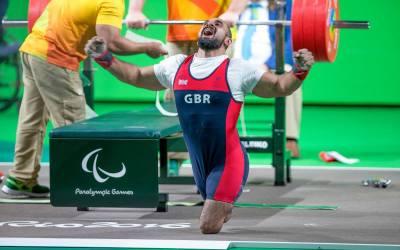 Ali Jawad e la panca paralimpica