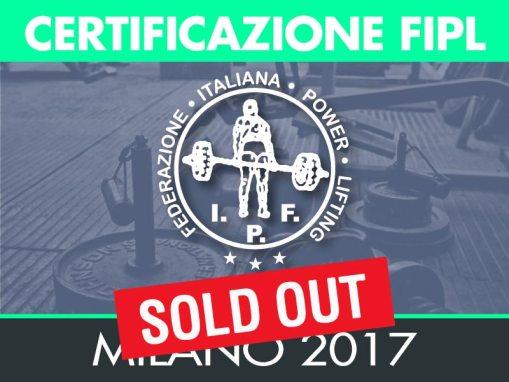 CERTIFICAZIONE FIPL – MILANO 2017
