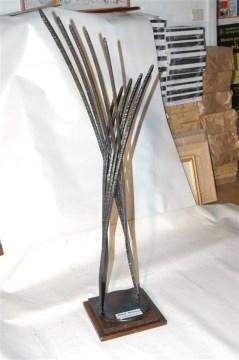 Travolgente - scultura in ferro 110x40x30
