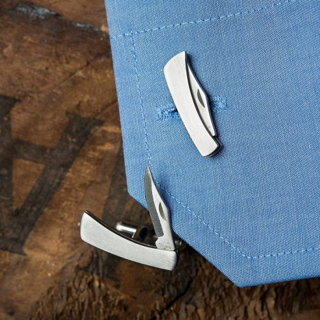 cuff link knives
