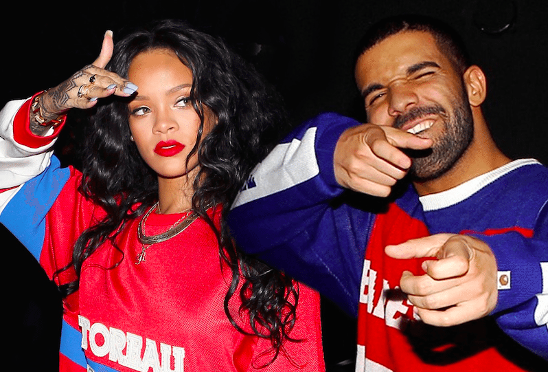 drake and rihanna being cute