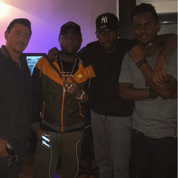 Davido in the Studio with Black M and Dany Synthé - AccelerateTv