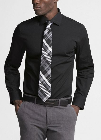 black shirt and tie4
