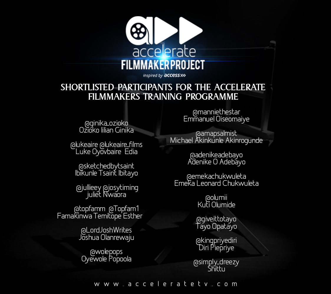 accelerate filmmakers project