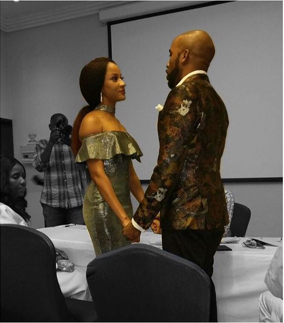 Banky W and Adesua court