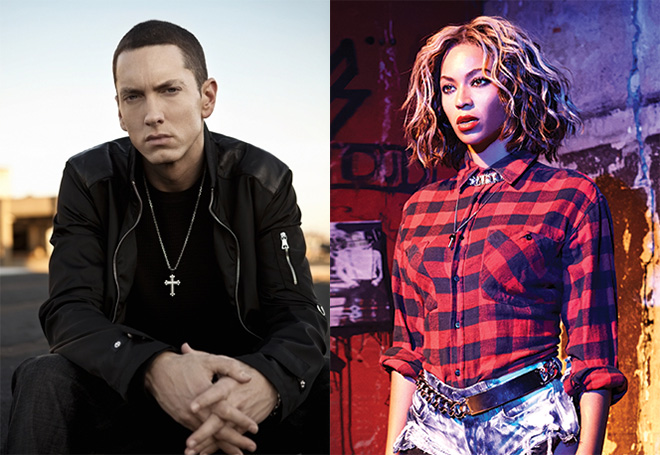 Eminem and Beyonce
