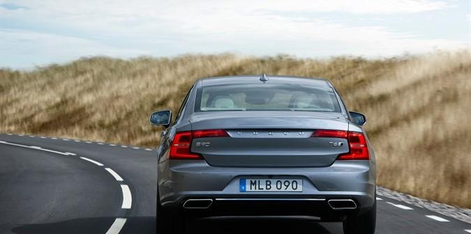 Location Rear Volvo S90 Mussel Blue