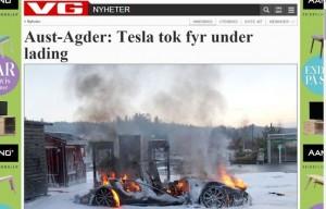 Tesla põles pilbasteks lehepilt
