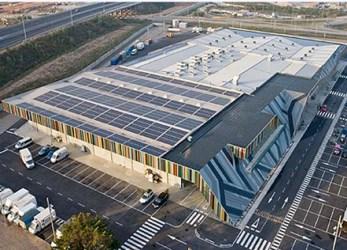 Mercabana aianduskeskuse päikesepaneelid