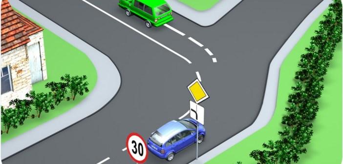 Segadusseajav liiklusülesanne: kui kiiresti võib sõita roheline auto?