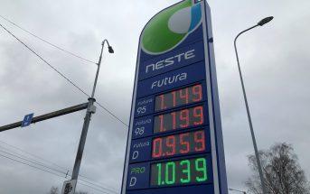 Neste kütusehinnad 27.11.2020
