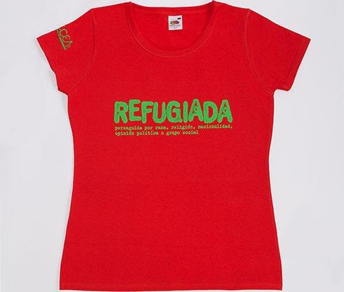 Camiseta roja mujer