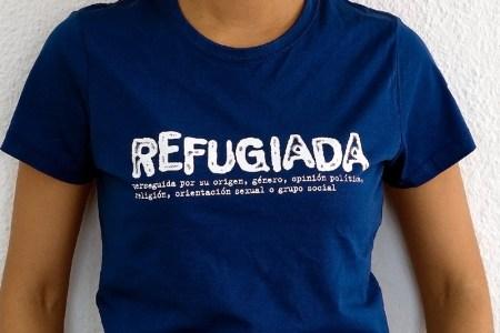Refugiada - Camiseta Azul