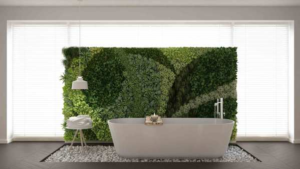 bathroom with vertical garden Beautiful Bathroom Plant Ideas - Accent Amenities, Inc.