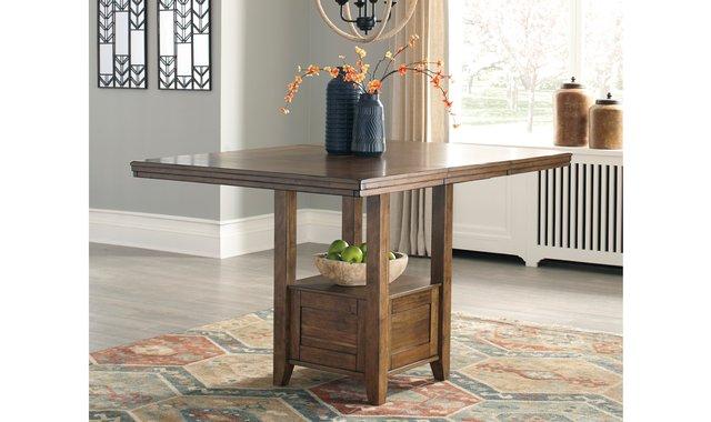 table hauteur comptoir avec rallonge