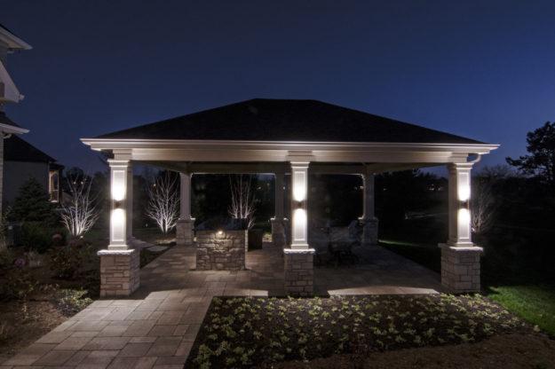 Gazebo Pergolas And Pavilions Outdoor Lighting In
