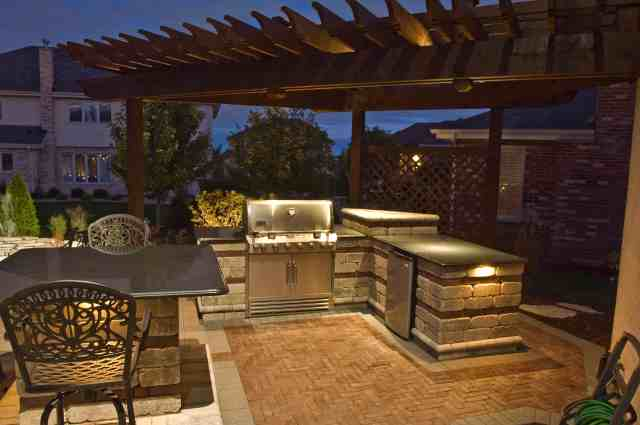 kitchen, bars and grills - outdoor lighting in chicago, il | outdoor