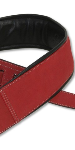 Red Leather Guitar Strap by Harvest Fine Leather, X-Short