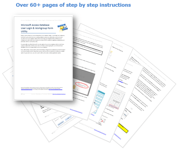 access database step by step user guide